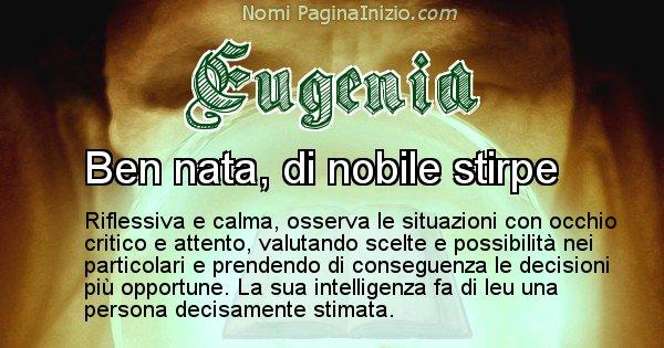 Eugenia - Significato reale del nome Eugenia