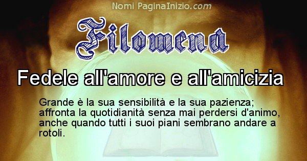 Filomena - Significato reale del nome Filomena