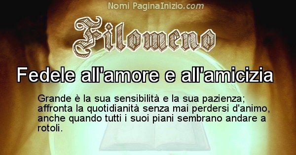 Filomeno - Significato reale del nome Filomeno