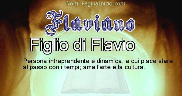 Flaviano - Significato reale del nome Flaviano