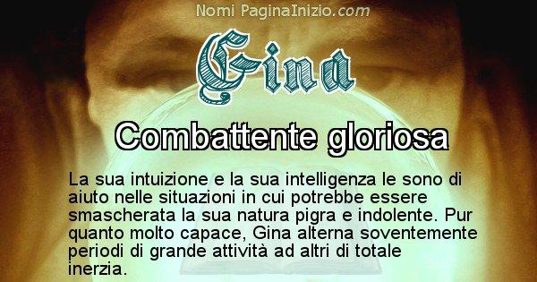 Gina - Significato reale del nome Gina