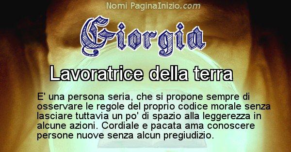 Giorgia - Significato reale del nome Giorgia