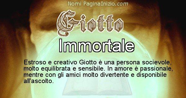 Giotto - Significato reale del nome Giotto