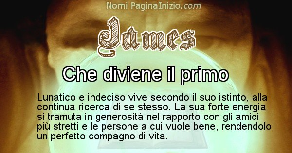 James - Significato reale del nome James