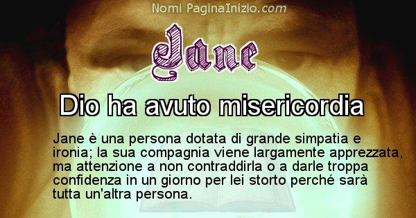 Jane - Significato reale del nome Jane