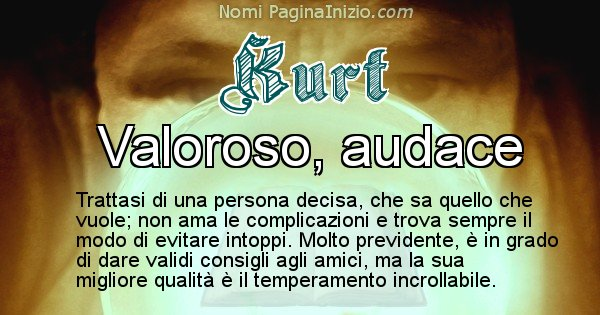Kurt - Significato reale del nome Kurt