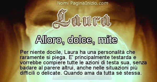 Laura - Significato reale del nome Laura