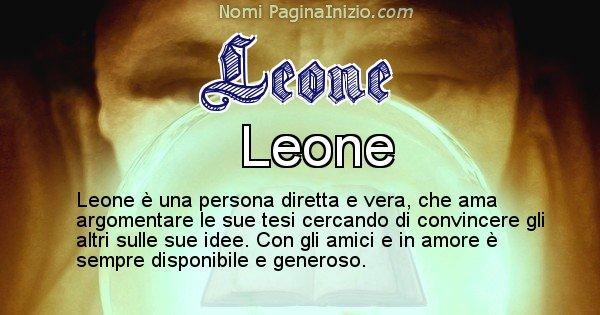 Leone - Significato reale del nome Leone