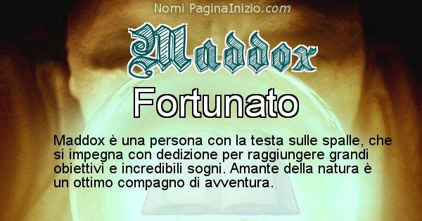 Maddox - Significato reale del nome Maddox