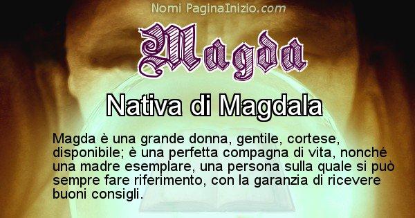 Magda - Significato reale del nome Magda