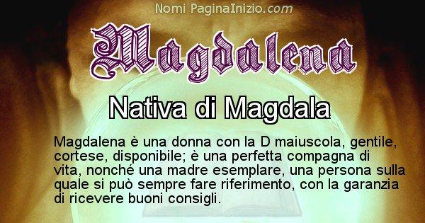 Magdalena - Significato reale del nome Magdalena