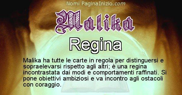 Malika - Significato reale del nome Malika