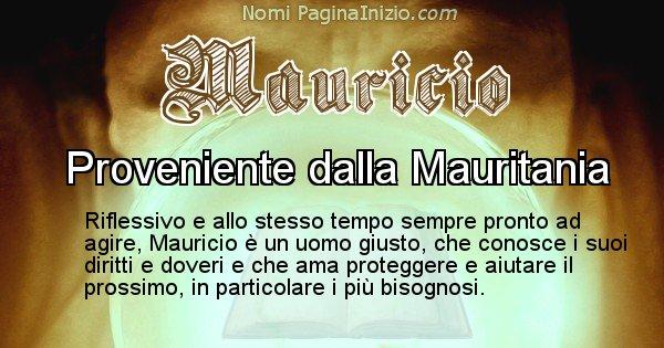 Mauricio - Significato reale del nome Mauricio