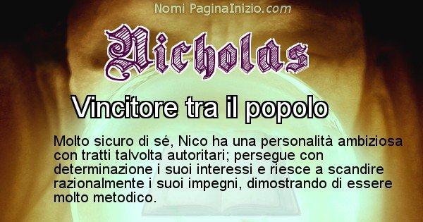 Nicholas - Significato reale del nome Nicholas