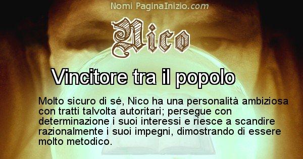Nico - Significato reale del nome Nico