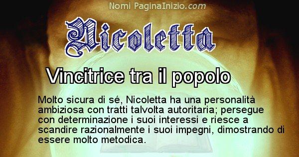Nicoletta - Significato reale del nome Nicoletta