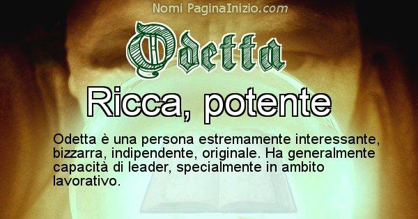 Odetta - Significato reale del nome Odetta
