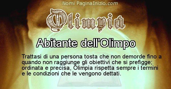 Olimpia - Significato reale del nome Olimpia