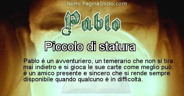Pablo - Significato reale del nome Pablo