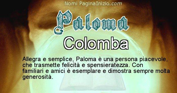 Paloma - Significato reale del nome Paloma
