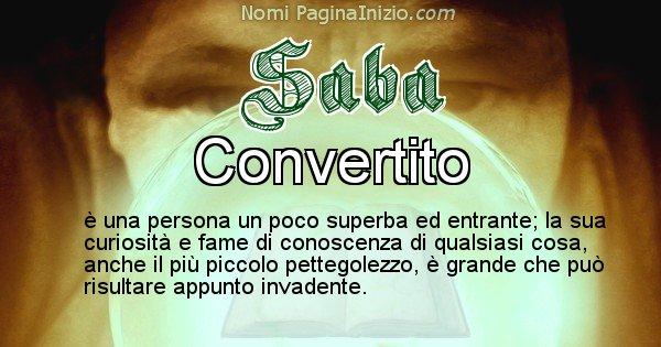 Saba - Significato reale del nome Saba