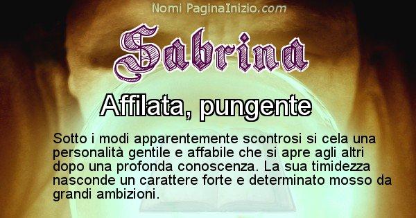 Sabrina - Significato reale del nome Sabrina