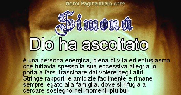Simona - Significato reale del nome Simona