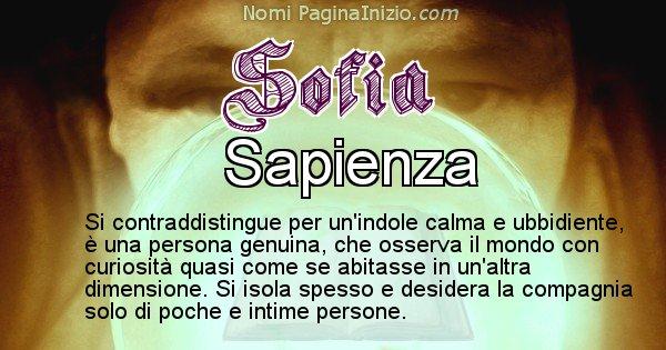 Sofia - Significato reale del nome Sofia