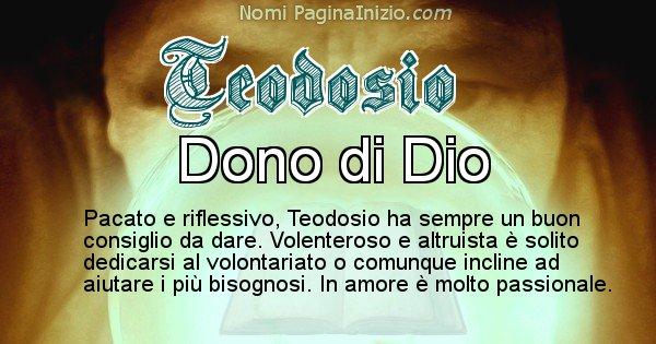 Teodosio - Significato reale del nome Teodosio