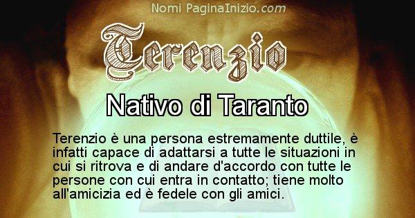 Terenzio - Significato reale del nome Terenzio
