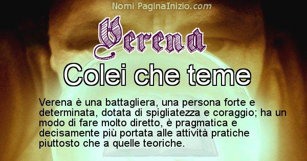 Verena - Significato reale del nome Verena