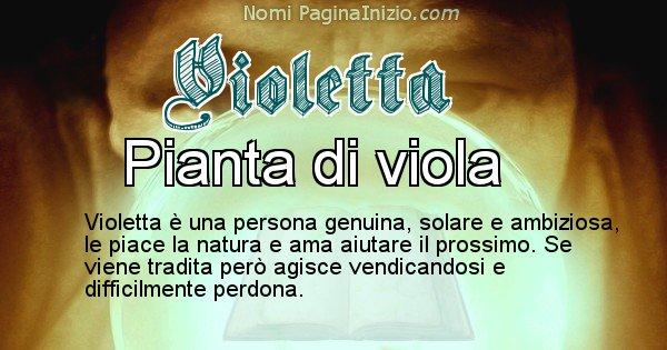 Violetta - Significato reale del nome Violetta