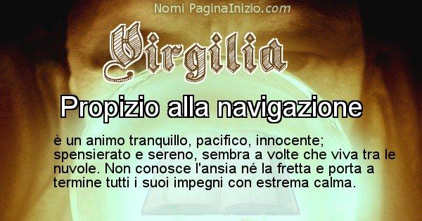 Virgilia - Significato reale del nome Virgilia