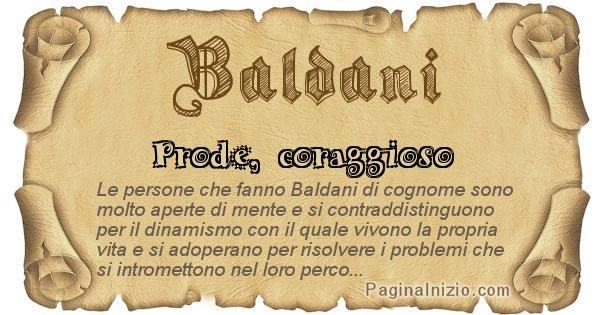 Baldani - Ottieni il significato del tuo Cognome Baldani