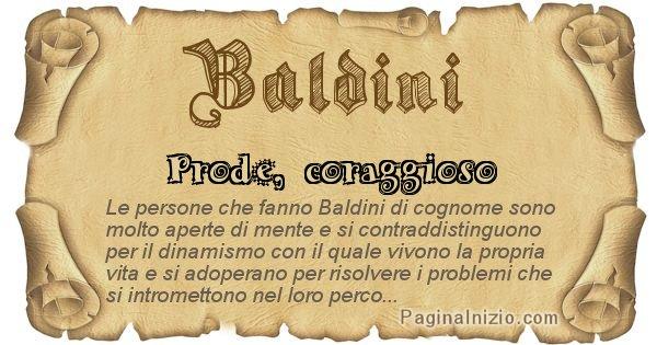 Baldini - Ottieni il significato del tuo Cognome Baldini