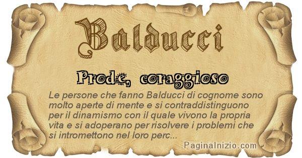 Balducci - Ottieni il significato del tuo Cognome Balducci