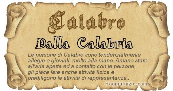 Calabro - Ottieni il significato del tuo Cognome Calabro