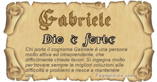 Gabriele - Ottieni il significato del tuo Cognome Gabriele