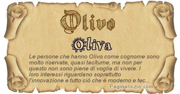 Olivo - Ottieni il significato del tuo Cognome Olivo