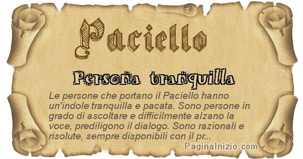 Paciello - Ottieni il significato del tuo Cognome Paciello
