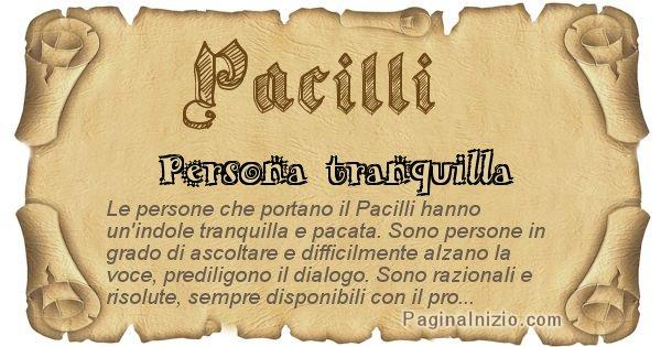 Pacilli - Ottieni il significato del tuo Cognome Pacilli