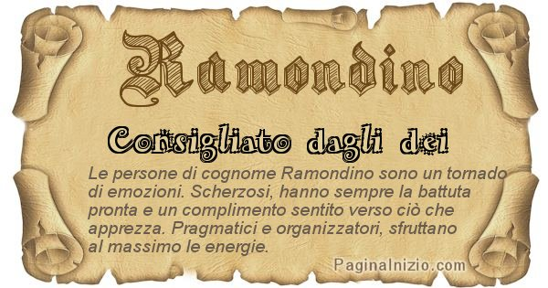 Ramondino - Ottieni il significato del tuo Cognome Ramondino