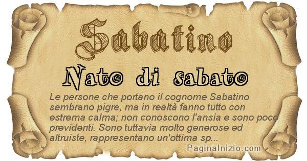 Sabatino - Ottieni il significato del tuo Cognome Sabatino