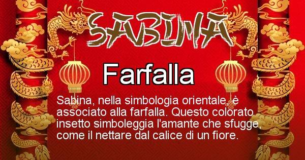 Sabina - Significato orientale del cognome Sabina