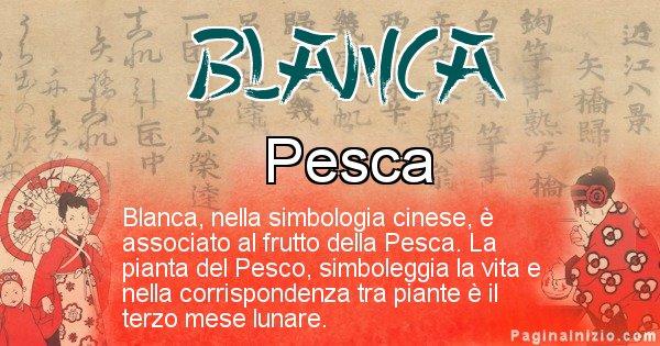 Blanca - Significato del nome in Cinese Blanca