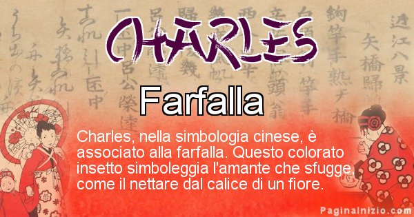 Charles - Significato del nome in Cinese Charles