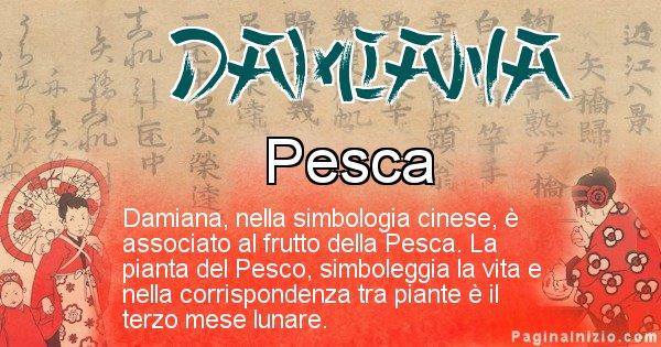 Damiana - Significato del nome in Cinese Damiana