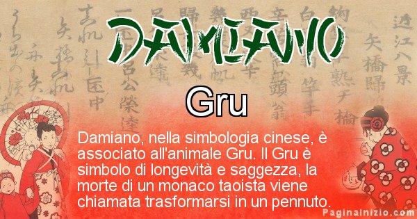 Damiano - Significato del nome in Cinese Damiano
