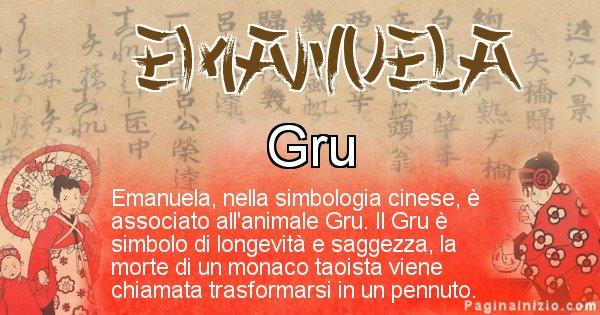 Emanuela - Significato del nome in Cinese Emanuela