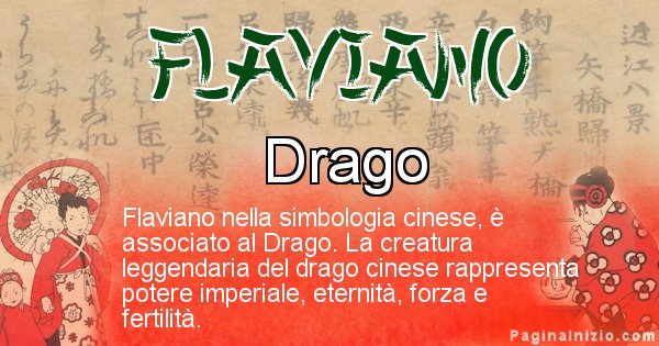 Flaviano - Significato del nome in Cinese Flaviano
